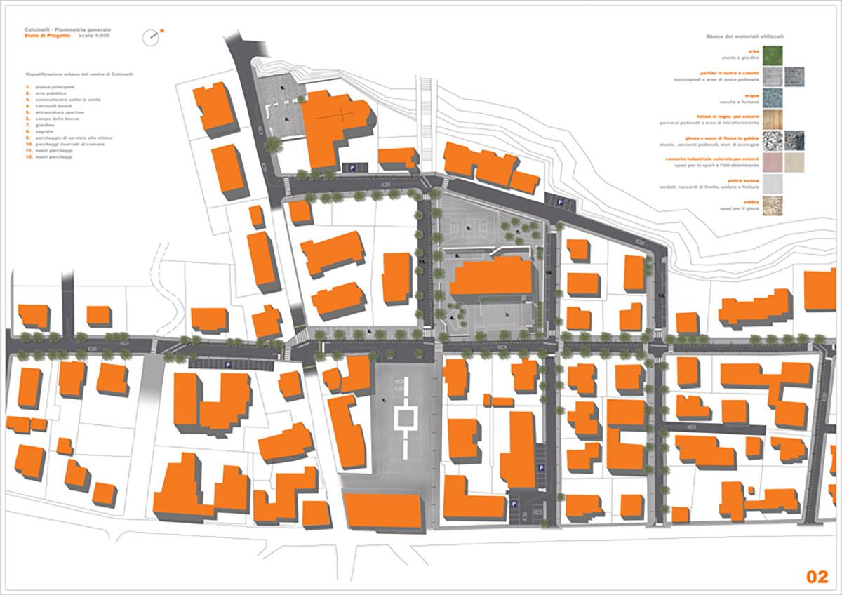 Riqualificazione urbana del centro di Calcinelli