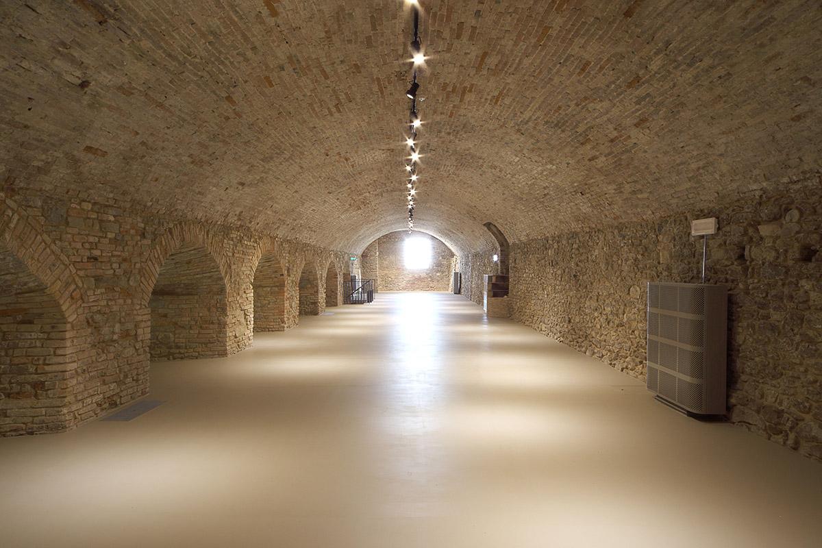 Castello di Sorrivoli, restauro delle cantine