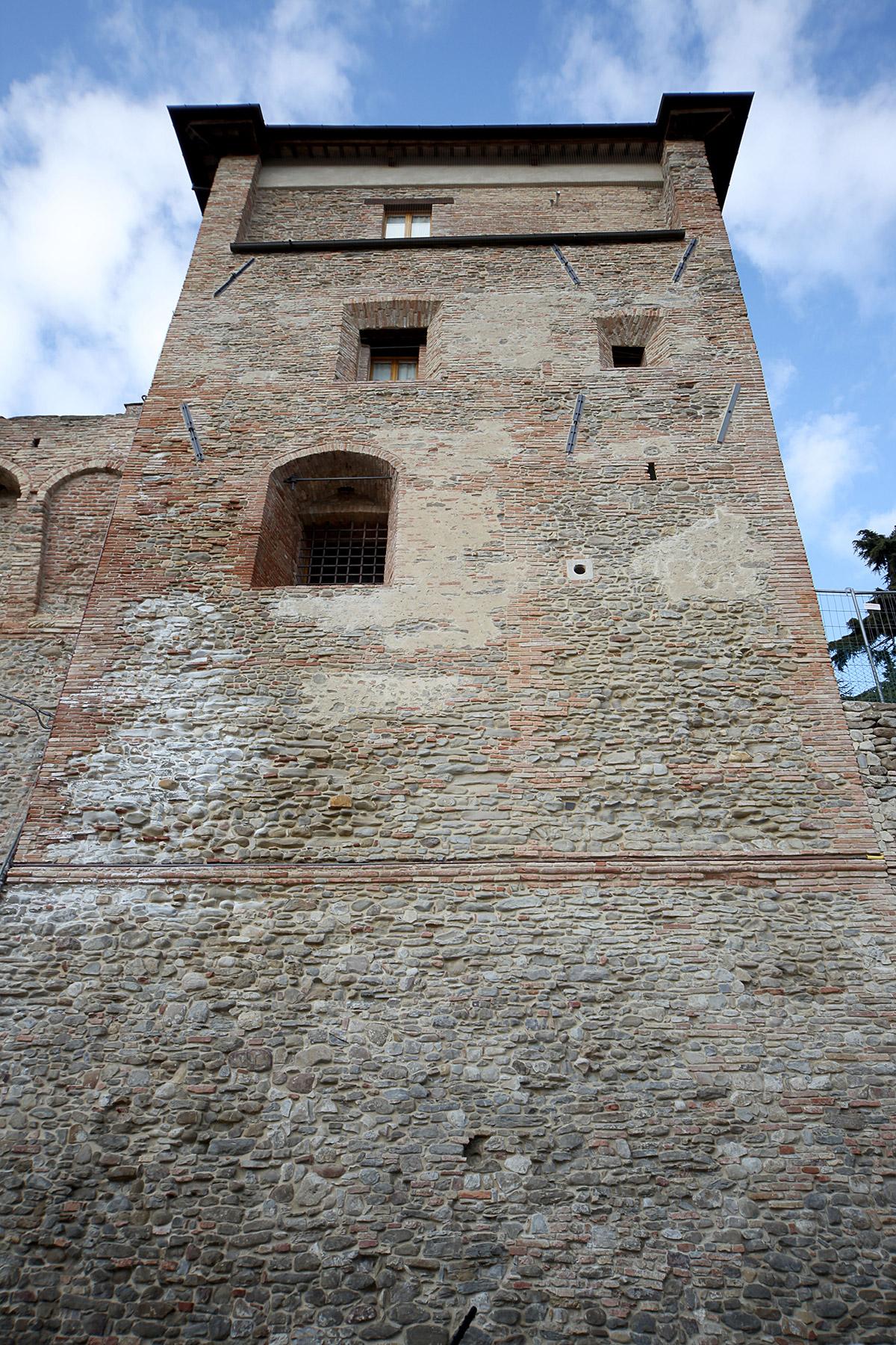 Castello di Sorrivoli, restauro del torrione Nord Est